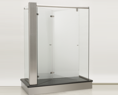 bi-fold frameless glass shower door