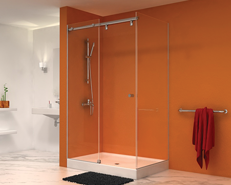 hydro slide frameless glass shower door