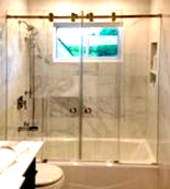 frameless shower door slider barn door