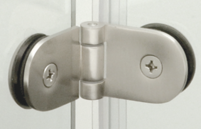 shower doors frameless bi-fold hardware