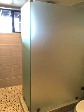 glass framelss walk in shower door frosted install